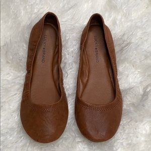 Lucky Brand Brown Leather Flats size 9.5